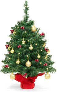 4. Best Choice Products 22-inch Pre-Lit Battery Mini Christmas Trees