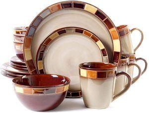 4.Gibson Elite Casa Estebana 16 Piece Dinnerware Set