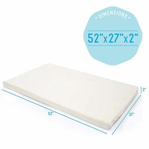 4. Milliard Foam Crib and Toddler Bed Mattress Topper