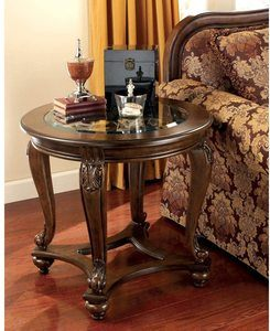 4. Signature Design by Ashley - Norcastle Traditional Round End Table