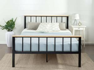 4. Zinus Brianne Metal and Wood Platform Bed