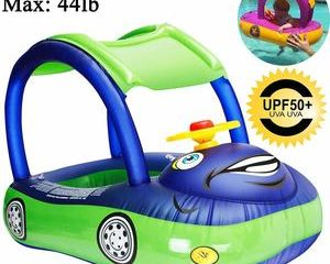 4. iGeeKid Baby Pool Float with Canopy