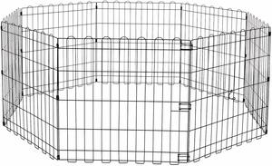 5. AmazonBasics Foldable Metal Pet Exercise and Playpen