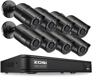 #6 ZOSI PoE Security Camera System,8-ch 1920x1080 Outdoor