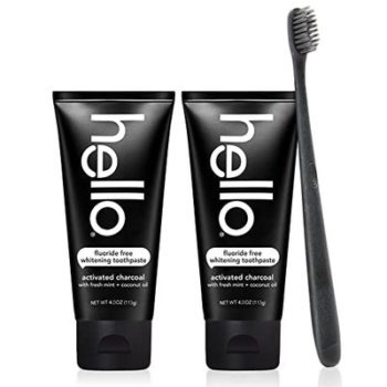 6. Hello Oral Care Toothpaste and Toothbrush