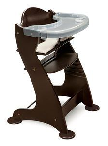 7. Embassy Convertible Height Adjustable Wood Baby Chair
