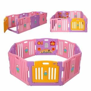 7. JAXPETY Baby Playpen Kids 8 Panel Safety Play Center Yard Home