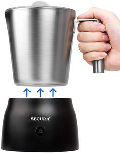 7. Secura 4 in 1 Electric Automatic Milk Frother