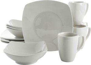 8. Gibson Home Zen Buffetware 12 Piece Dinnerware Set Service for 4
