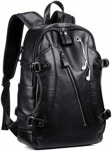 9. Business PU Soft Leather Anti Theft Backpack
