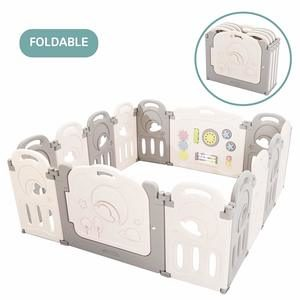 9. Fortella Cloud Castle Foldable Playpen, Baby Safety Play Yard