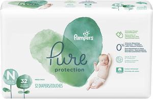 9. Pampers Pure Protection Disposable Baby Diapers