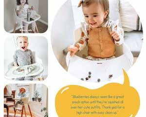 9. Wooden High Chair with Removable Tray