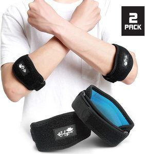 1. Elbow Brace for Tennis & Golfer's Elbow Pain Relief, 2 Pack