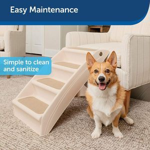 #1. PetSafe Solvit PupSTEP Foldable plus Pet Stairs