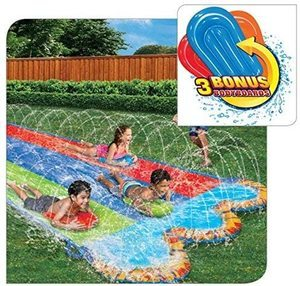 10. Banzai Triple Racer 16 Ft Water Slide-with 3 bodyboards