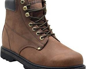 10. EVER BOOTSTank Men's Soft Toe Oil Full Grain Leather Work Boots