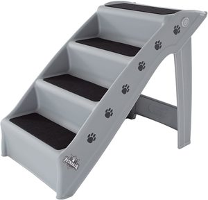 #10. Folding Plastic Durable 4-Step Pet Stairs