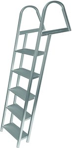#10. JIF MARINE Products Anodized Aluminum 5-Step Dock Ladder