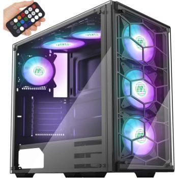 10. MUSETEX Phantom Black ATX Mid-Tower Case