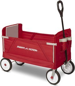 2. Radio Flyer Folding Wagon for kids and cargo