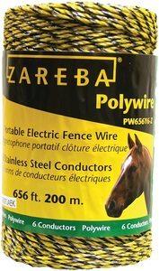 #2. Zareba PW656Y6-Z Polywire – 656 feet 200-Meter Portable