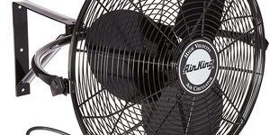 #3. Air King 2 16 HP Non-Oscillating 3-Speed Wall Mount Fan