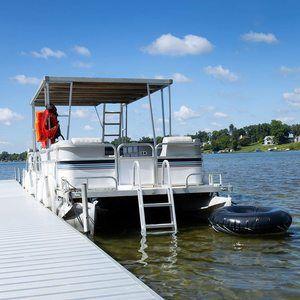 #3. RecPro Marine Pontoon Dock 4-Step