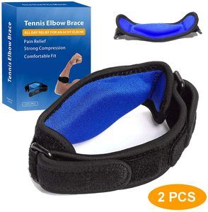 3. Tennis Elbow Brace for Elbow Tendonitis (2 PCS)