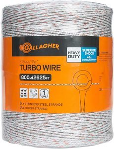 #4. Gallagher portable Electric Fence Wire 2625 feet, 332
