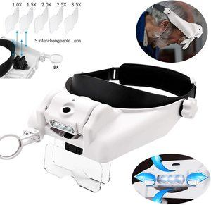 4. HunterBee LED Headlight Head-Mounted Magnifying Glass