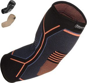 4. Kunto Fitness Elbow Brace Compression Support Sleeve