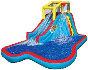 5. BANZAI Slide N Soak Splash Park Play Center with Blower