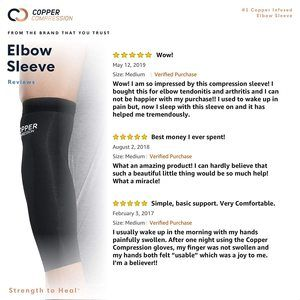 5. Copper Compression Recovery Elbow Sleeve (Medium)