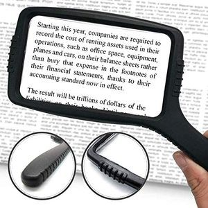 5. MagniPros Jumbo Size Magnifying Glass (3X Magnification)