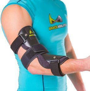 6. BraceAbility Cubital Tunnel Syndrome Elbow Brace