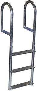 #6. Dock Edge Welded Wide Step Dock Aluminum Ladder