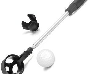 #6. Golf Ball Retriever, Telescopic Stainless Steel Extendable
