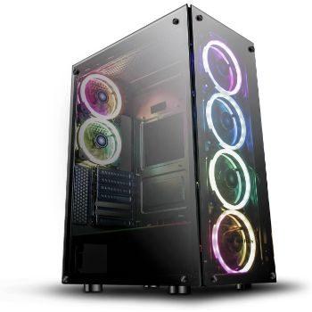 6. darkFlash Phantom Black ATX Mid-Tower Gaming Case