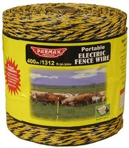 #7. Baygard Electric Fence 1312 Feet Yellow and Black Wire - 00122