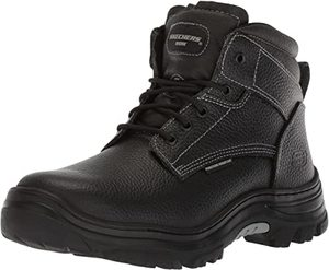 7. Skechers Mens Tarlac Steel Toe Work Boot – Black