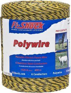 #8. Fi-Shock PW1320Y6-FS, Polywire, 6-Strand, 1320-Feet