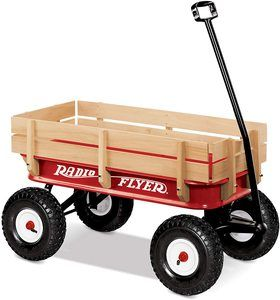 8. Radio Flyer 3 All-Terrain Steel & Wood Wagon
