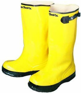 9. Bon 14-716 Yellow Rubber Contractor's Overshoe Boot