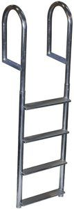 #9. Dock Edge Welded Wide Step 4-Step Aluminum Dock Ladder…