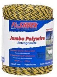#9. Fi-Shock PW656Y9-FS Polywire, 656-Feet, 9-Strand