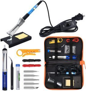 1. Anbes Soldering Iron Kit with 60W Adjustable Temperature