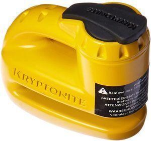 1. Kryptonite 000884 Keeper 5s Yellow Disc Lock