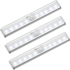 1. OxyLED Motion Sensor Closet Lights, 3 Pack