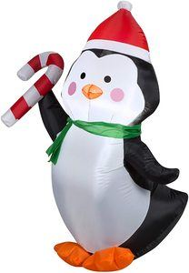 10. Gemmy G08 36052 Air Blown Outdoor Penguin Decor